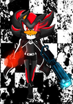 Shadow the Hedgehog - The Black Rock Shooter by TheSnowwolf700