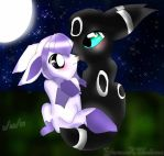 GlaceonXUmbreon by TheTaintedHeart