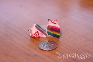 Strawberry Glaze Rainbow Cake Charm by LynnBuggie