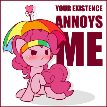 Positively Peeved Pink Party Poni by SymbianL