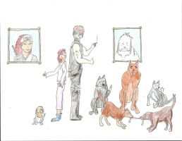 KCC Inuzuka family (extended and in color) by cas42
