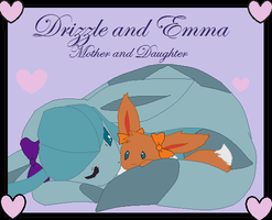 Drizzle And Baby Emma by Drizzle-The-Glaceon