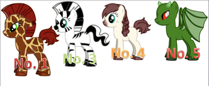 ~Pony Adoptables Group 2~ by StarCatcherZ