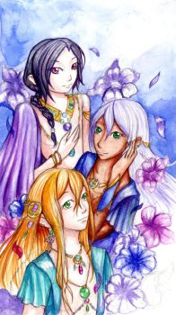 Emerald Prince - Trio by Lavender-Mint-Rose