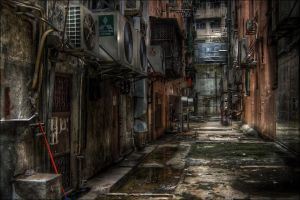 Hong Kong Alley by 3vilCrayon