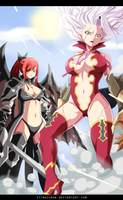 Fairy Tail 364 - Mirajane and Erza Fighting by StingCunha