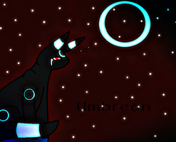 Umbreon .:Crying at Moonlight:. by ShadoweyTemptation