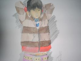 trying to sketch-paint ryutaro by eugeneforever2003