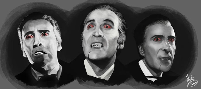 Christopher Lee - Studies by MattDeMino