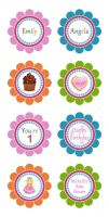 Cupcake Toppers Template by danbradster