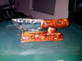 Medium cedar glass knife by WVS-Knifes