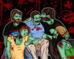 Zombie Portraits - Group by shane-mills
