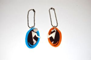 Portal Keychain - Phone charm by knil-maloon