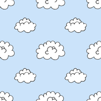 Pattern - Clouds Blue by tristin-stock
