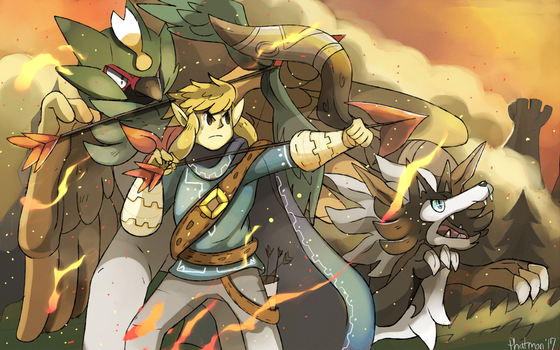 Link and the Great Pokemon war by Phatmon