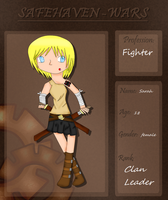 SafeHaven-Wars app .: Sarah :. by ShualeeCreativity