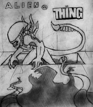 Alien vs. The Thing by Rixshaw