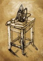 Iron and old tabouret by Dasha-KO