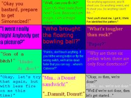 Red VS Blue Quotes 6 by PsychoDemonFox