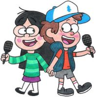 Dipper and Candy Singing by nintendomaximus