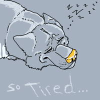 exhausted by lazy-procrastinator