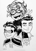 Young Justice NYCC2014 by BillWalko
