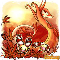 SERPERIOR FALL POKEMON COLLAB by SiegeEvans