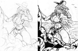 gina golddiger inked preview by westwolf270