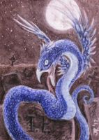 Serpent -ACEO- by silverybeast