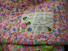 Detail of Keira's Quilt label by ladyiolanthe