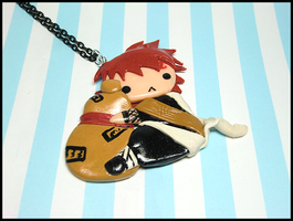 Chibi Gaara Necklace by GrandmaThunderpants