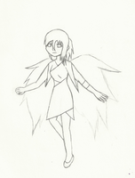 Drawing Practice, Angel by MaiShark