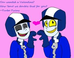 Turbo Twins Valentine by DarkestLIE