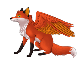 Winged vixen by leticiaprestes