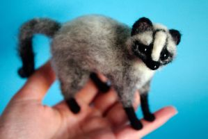Masked Palm Civet by SaniAmaniCrafts