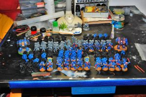 Ultramarines 2nd Company WIP by JaWzY83