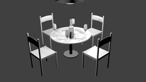 Subdivision Table and Chairs by pookstar