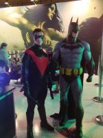 Batman and Nightwing EB EXPO 2012 by Kirkysworld