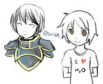 Ossian and Julian doodle by kimcia