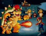 Training Bowser Jr. by Fred-Weasley