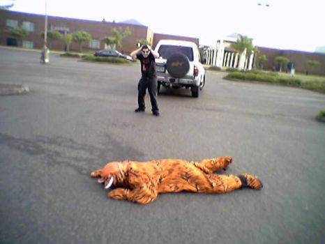 tigger road kill noooooooooo by koIce