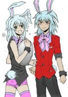 bunny boys bakura and ryou by SpastasticOkami