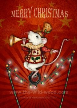 Christmas Mouse 1 by WildWoodArtsCo