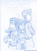 Korra: A Love Triangle? by Mattierial