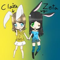 oc zeta and claira by teiro-nell