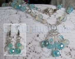 SEA OPAL NECKLACE by 1arcticfox