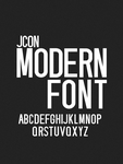 JCON - Modern Font for Titles by jokubas00