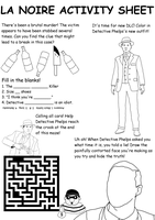 LA Noire Activity Sheet by Charkie978