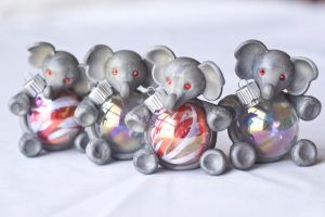 Elephant Ornaments by vsweettartv