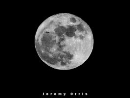 Full Moon with a plane by scribleofbaja